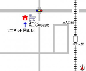 岡山店地図